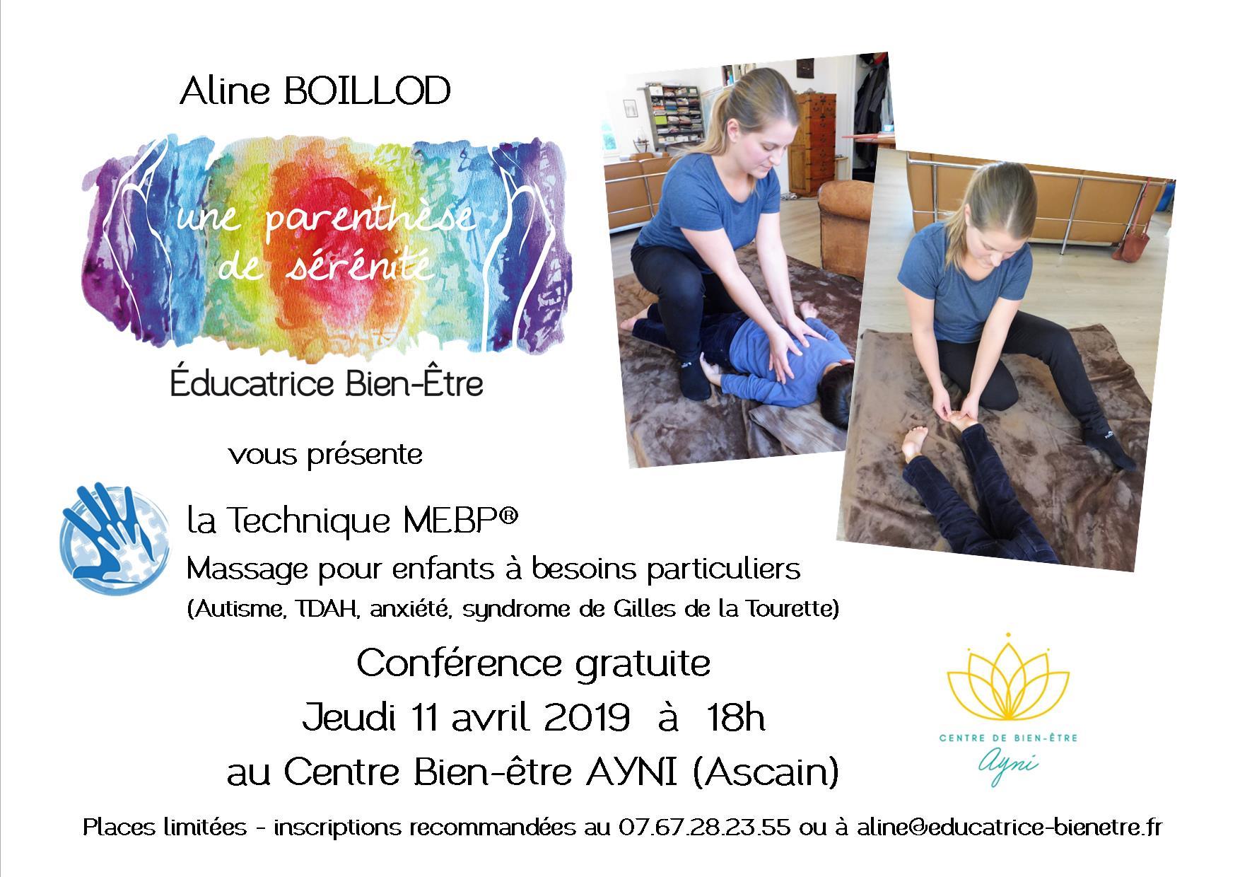 conférence 11 avril 2019 centre Ayni Aline Boillod